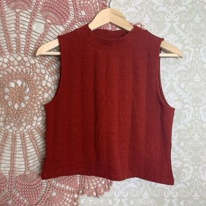 H&M Rust Orange Crop Top
